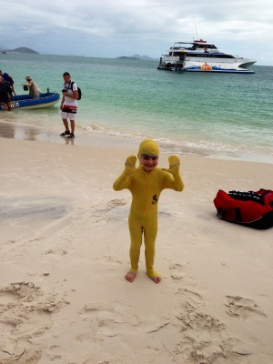 The stinger suit a.k.a. the little banana!