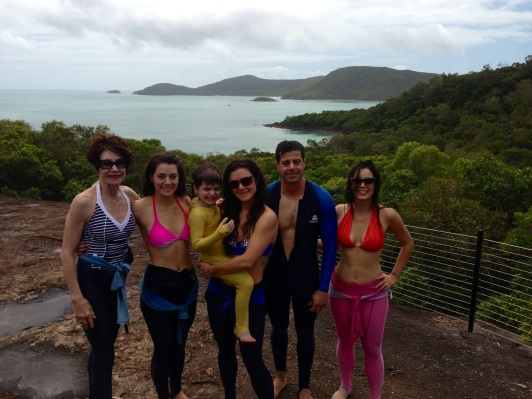 Barefoot hike on Whitehaven Beach