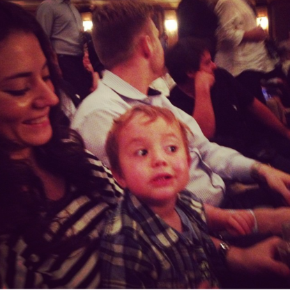 Paramor on Broadway... Zac couldn't take his eyes off the stage!